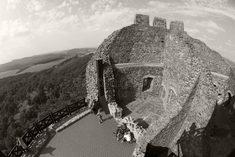 Castello Ungheria - immagine panoramica di Holloko fotografia stock