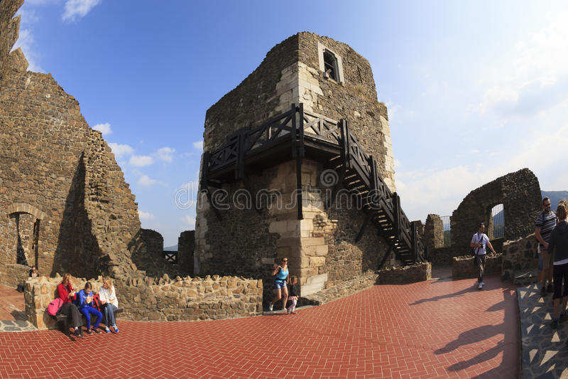 Castello Ungheria - immagine panoramica di Holloko immagini stock libere da diritti