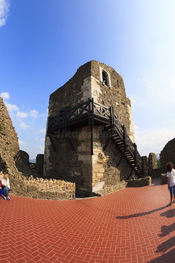 Castello Ungheria - immagine panoramica di Holloko fotografie stock