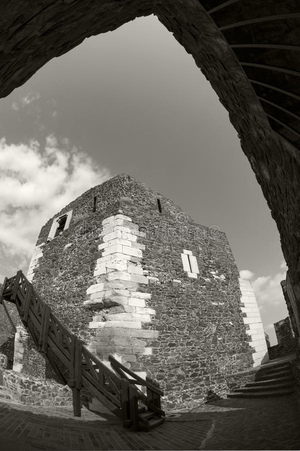 Castello Ungheria - immagine panoramica di Holloko fotografie stock libere da diritti