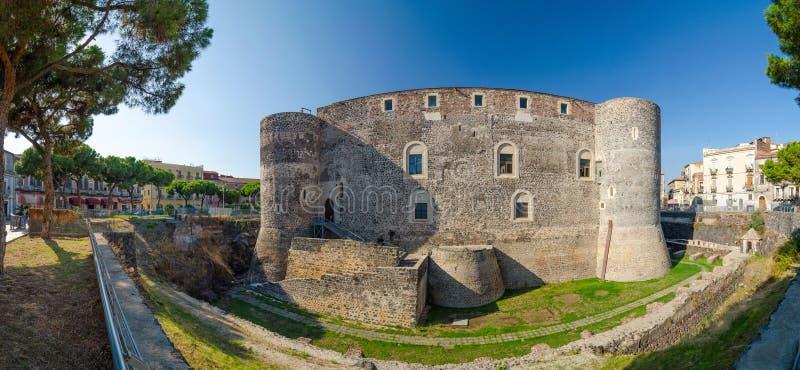 Castello Ursino o castello dell'orso a Catania, Sicilia immagini stock libere da diritti