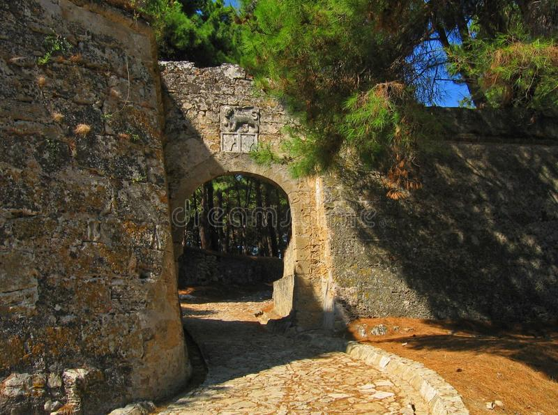 Castello veneziano di Zacinto fotografie stock libere da diritti
