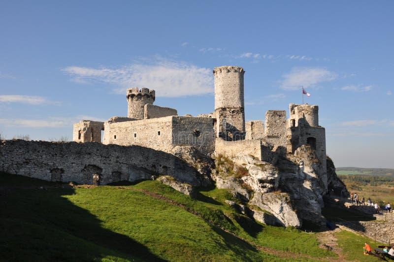 Castello vicino a Cracovia immagini stock