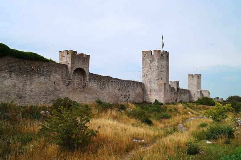 Castello in Visby fotografia stock libera da diritti