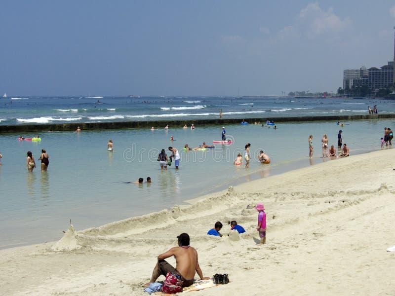 Castello Waikiki della sabbia fotografie stock libere da diritti