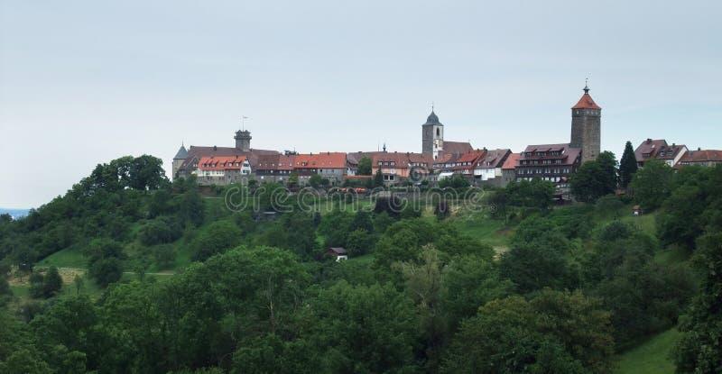 Castello Waldenburg in Hohenlohe immagine stock libera da diritti