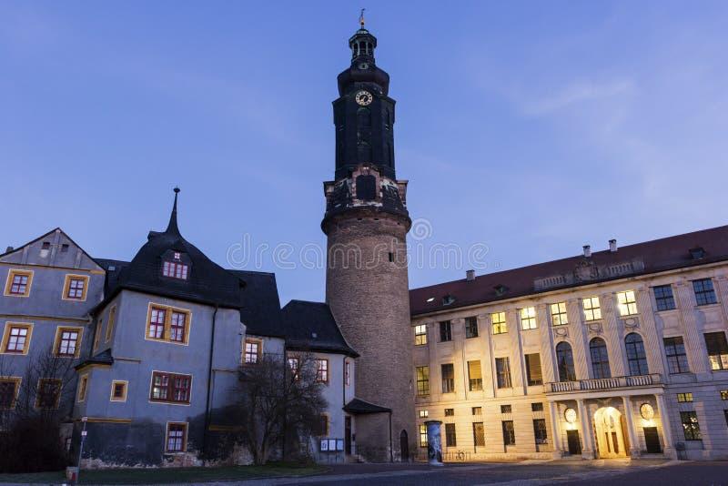 Castello a Weimar in Germania fotografia stock