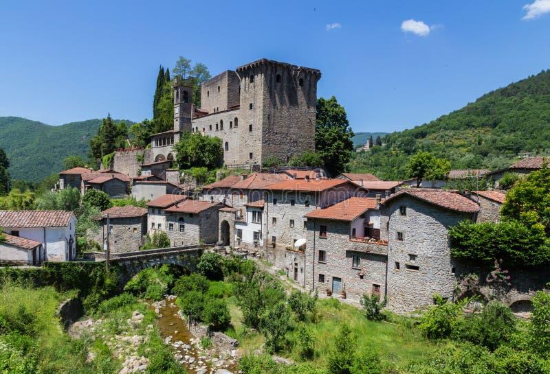 Castellodella Verrucola Fivizzano massa-Carrara Italië royalty-vrije stock foto