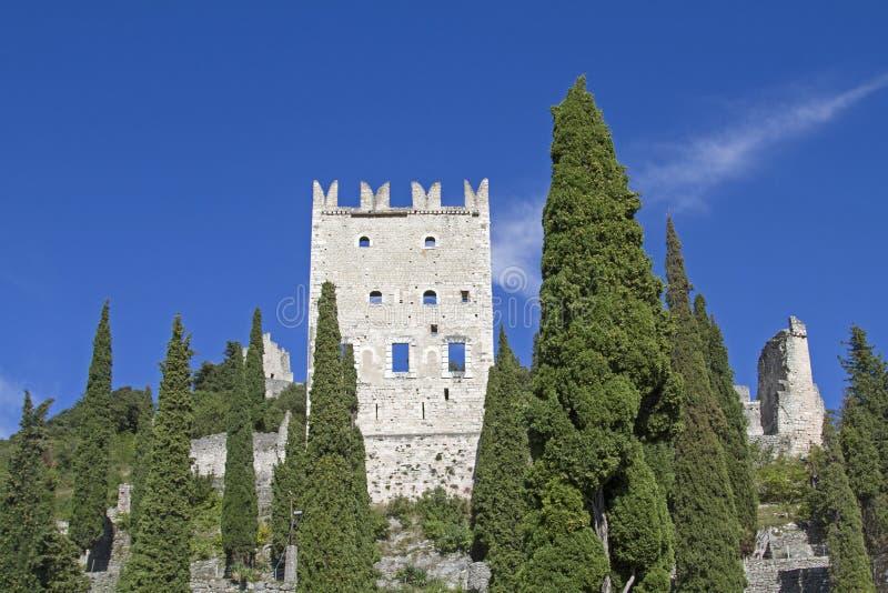 Castellodi Arco in Trentino stock afbeeldingen