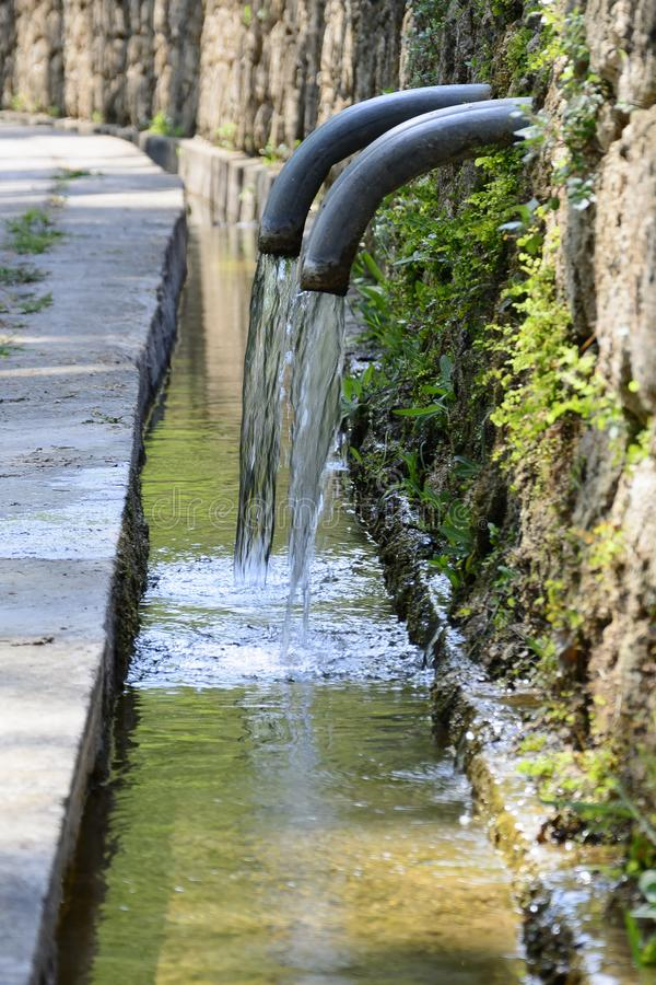 Natural spring of water stock photography