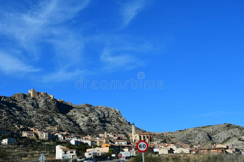 Castellote in Teruel, Spain royalty free stock photo