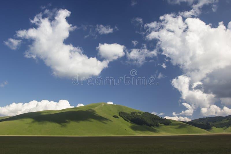 Castelluccio di Norcia - Úmbria - Itália fotografia de stock royalty free