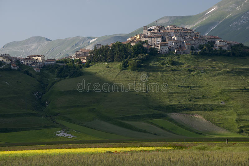 Castelluccio di Norcia, Умбрия, Италия стоковые изображения