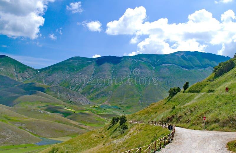 Castelluccio di Norcia, Italia immagini stock libere da diritti