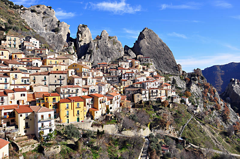 Castelmezzano στοκ εικόνες