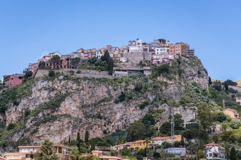 Castelmola on Sicily Island royalty free stock image