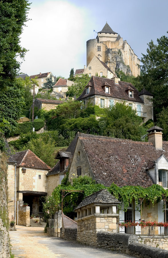 Castelnaud, Francia imágenes de archivo libres de regalías