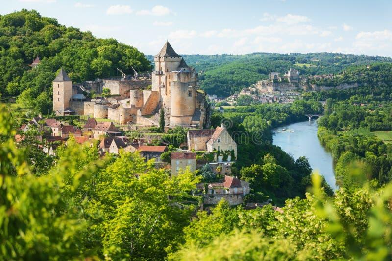 Castelnaud-La-Chapelle dans le département de Dordogne dans les Frances photo stock