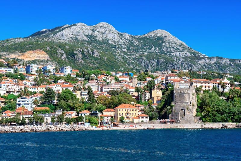 Castelnuovo, baia di Cattaro, Montenegro fotografia stock libera da diritti