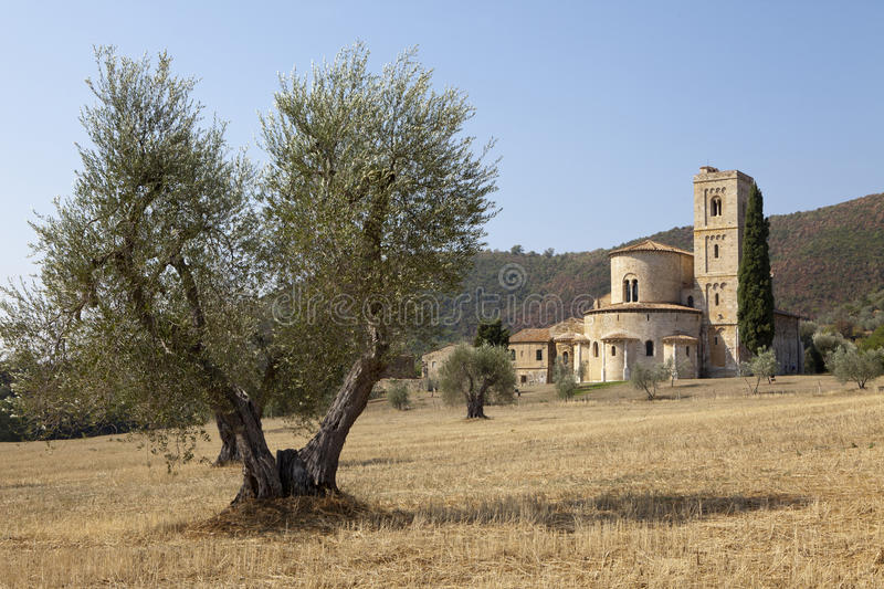 Download Castelnuovo dell'Abate stock image. Image of romanesque - 26596315