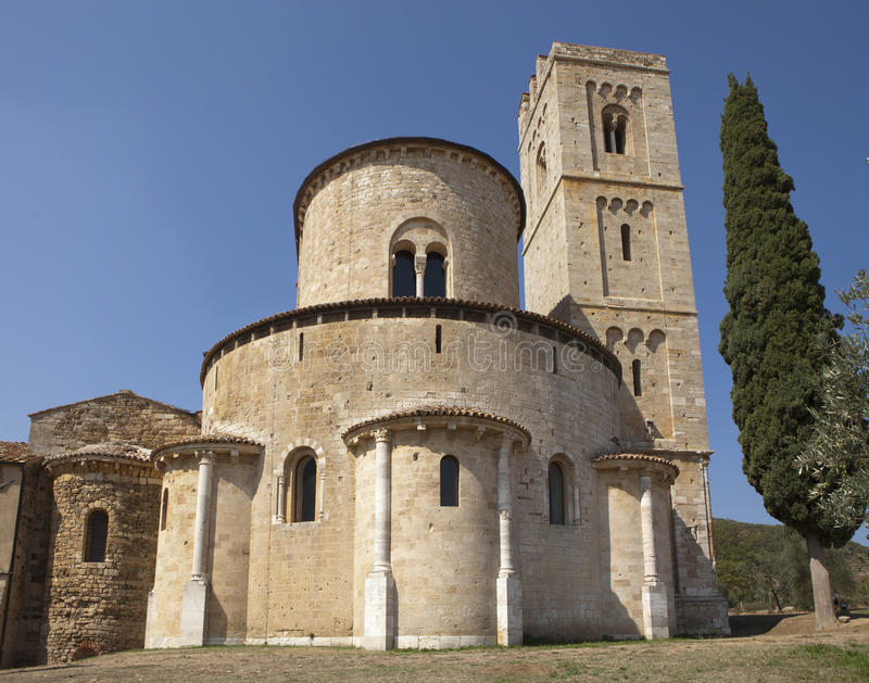 Download Castelnuovo dell'Abate stock image. Image of romanesque - 26625297
