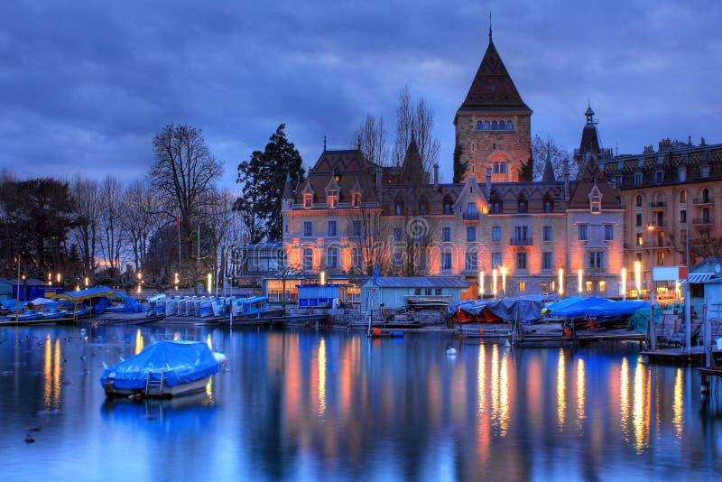 Castelo 06 d'Ouchy, Lausana, Switzerland fotos de stock