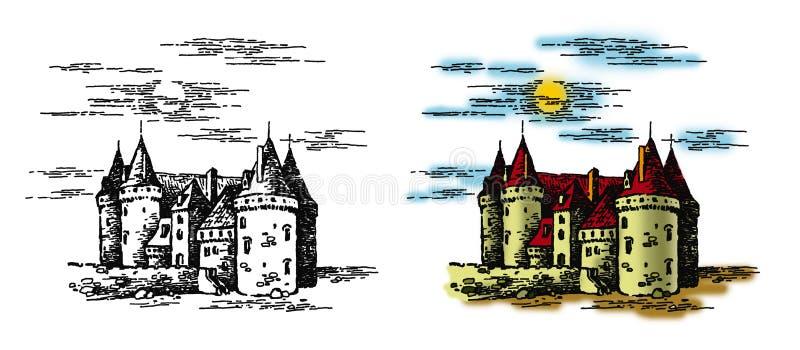 Castelo 1 ilustração royalty free