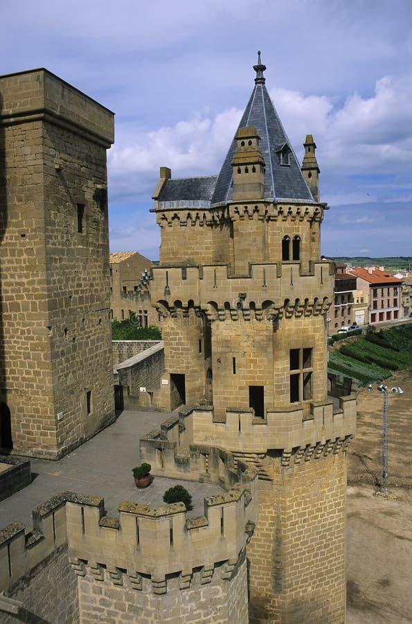 Castelo 1 de Olite fotos de stock royalty free
