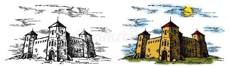 Castelo 2 ilustração royalty free