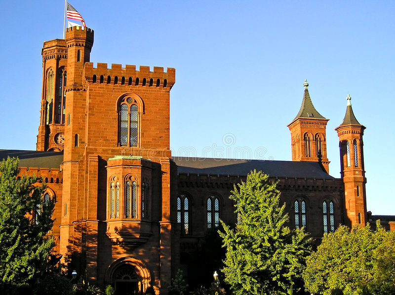 Castelo 3 de Smithsonian - Washington, C.C. fotos de stock