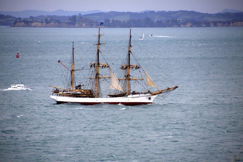 Castelo alto de Picton do navio em Auckland imagem de stock