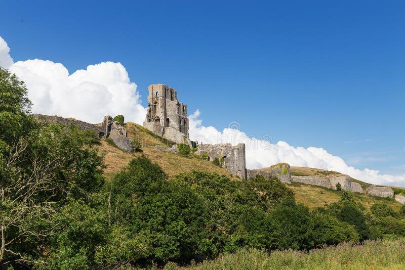 Castelo antigo de Corfe, Dorset, Reino Unido fotos de stock