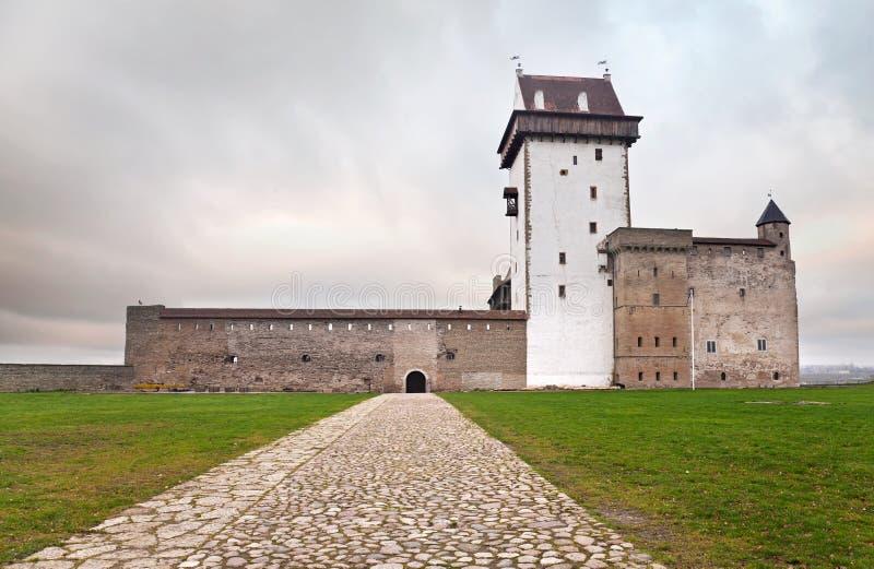 Castelo antigo de Herman em Narva fotografia de stock