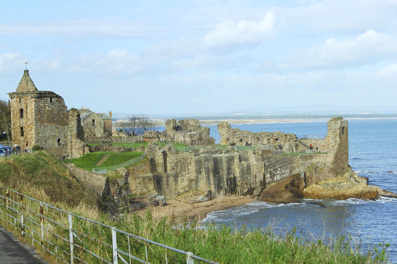 Castelo antigo do St. Andrews fotos de stock