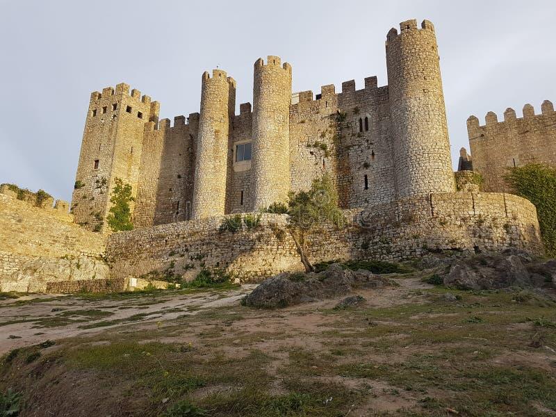 """Castelo antigo situado na cidade bidos de à """"- Portugal fotografia de stock"""