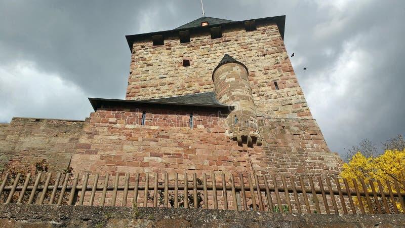 Castelo arquitetónico de Nideggen do detalhe, Alemanha imagens de stock