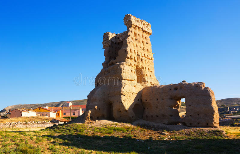 Castelo arruinado de Palenzuela fotografia de stock