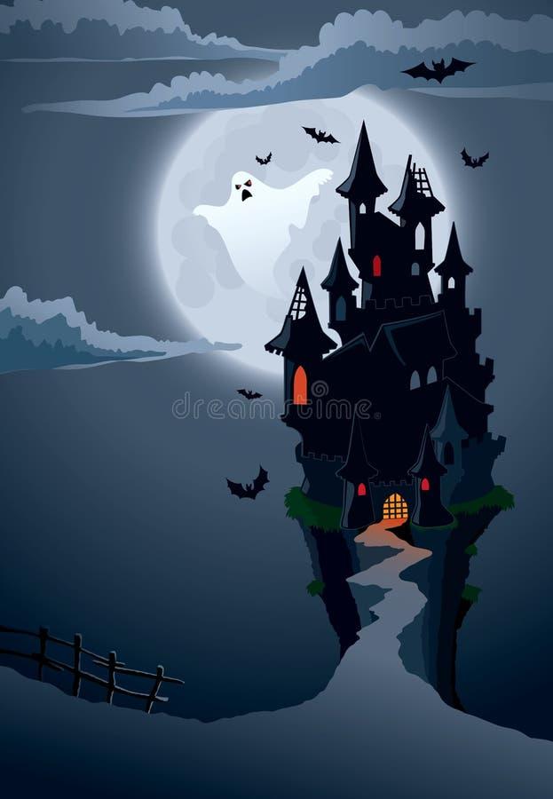 Castelo assustador ilustração do vetor