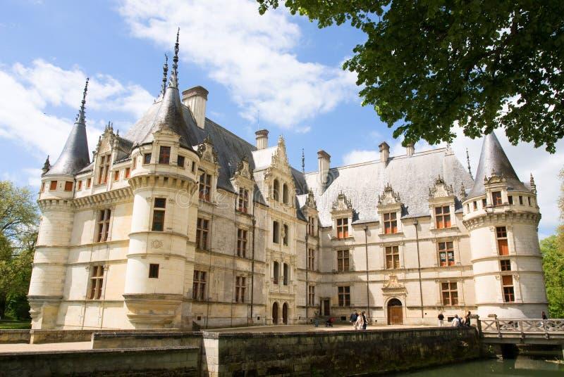 Castelo Azay Le Rideau imagem de stock