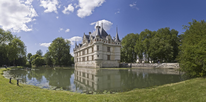Castelo Azay-le-Rideau, France foto de stock