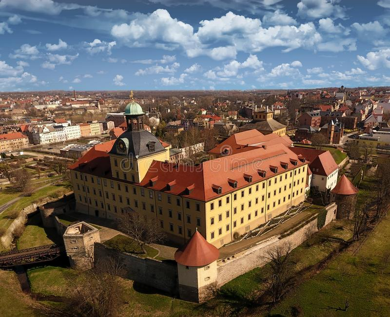 Castelo barroco Moritzburg em Zeitz fotos de stock