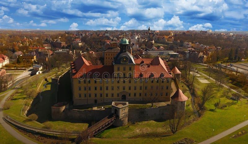Castelo barroco Moritzburg em Zeitz fotografia de stock royalty free