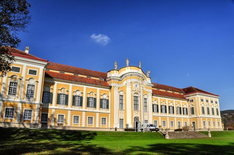 Castelo barroco Schielleiten, Styria, Áustria fotos de stock
