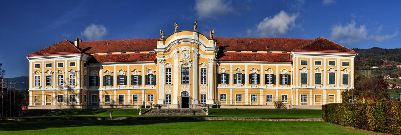 Castelo barroco Schielleiten, Styria, ?ustria fotos de stock royalty free
