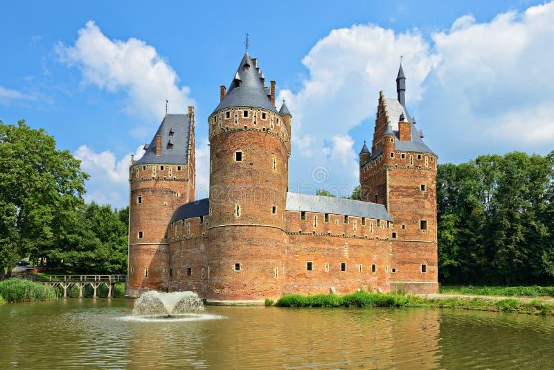 Castelo Beersel em Bélgica fotografia de stock royalty free