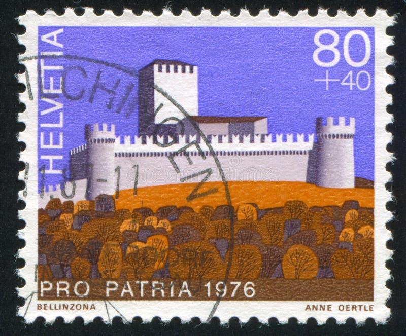 Castelo Bellinzona foto de stock