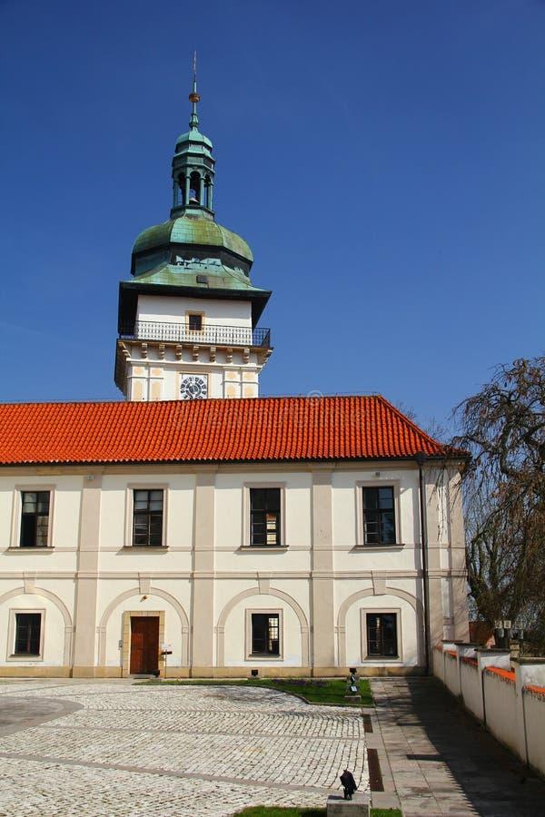 Castelo Benatky nad Jizerou, Boêmia, república checa fotos de stock