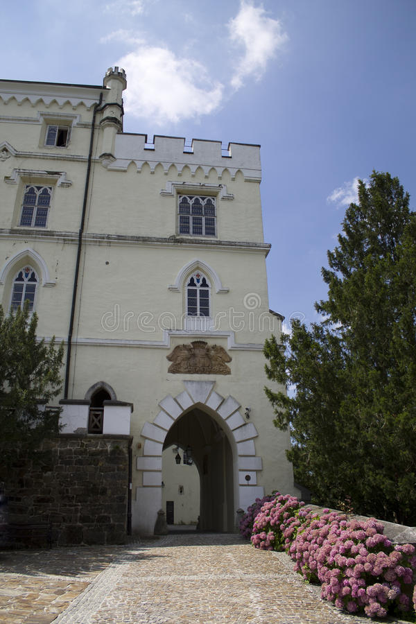 Castelo bonito de Trakoscan fotos de stock royalty free