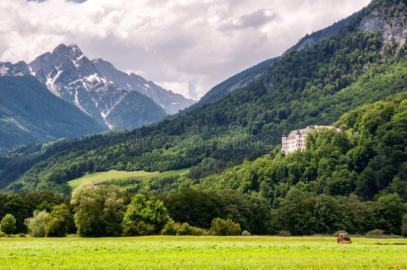 Castelo bonito Tratzberg em Tirol/Áustria imagem de stock