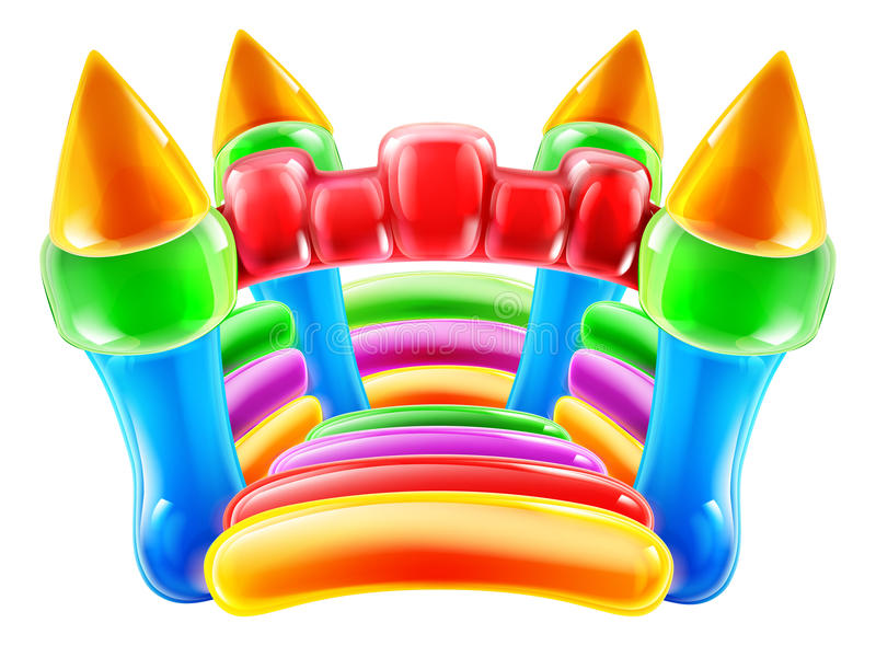 Castelo Bouncy ilustração stock